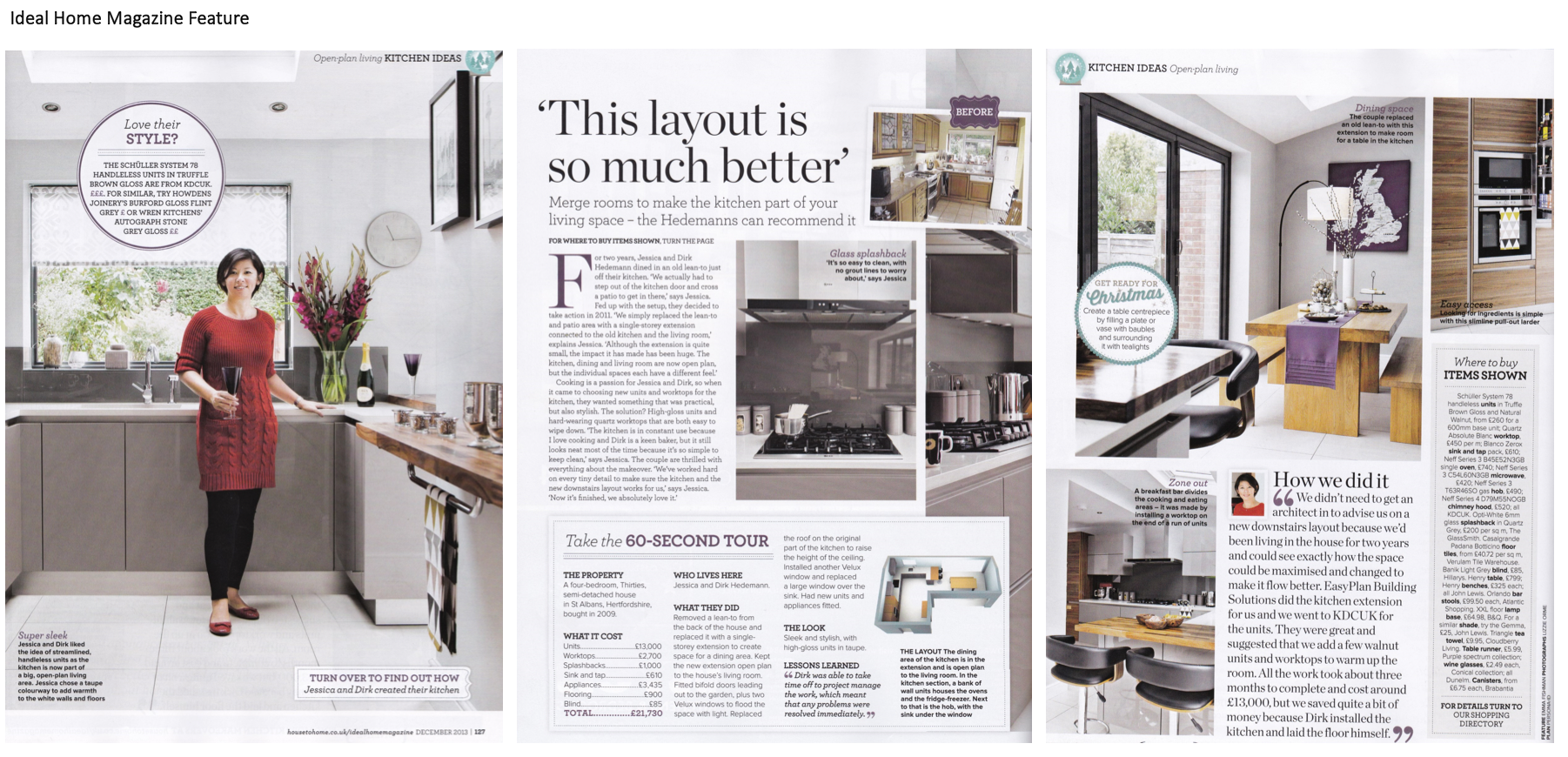 Ideal home magazine feature on home styling