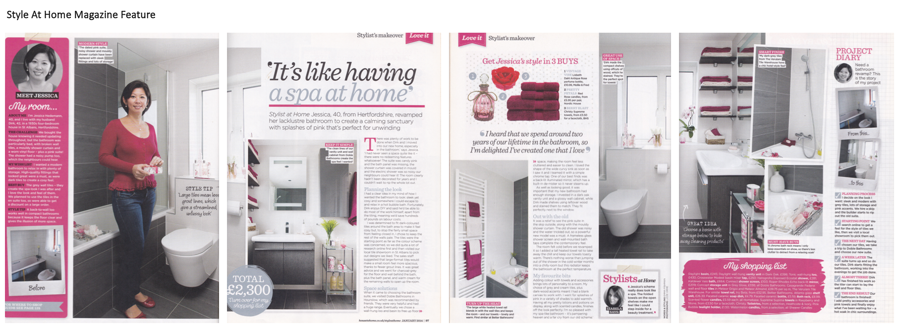 Style at Home magazine feature on home styling